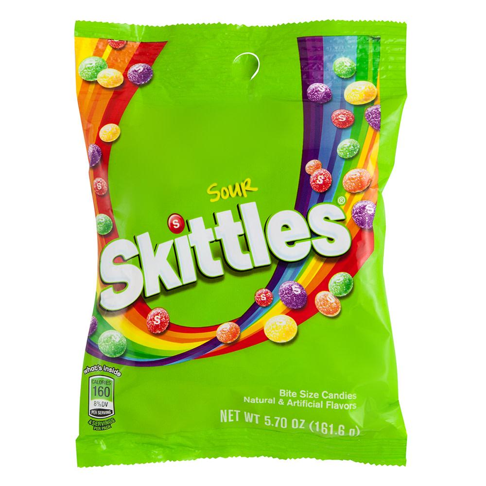 skittles sour 5.7 oz peg bag