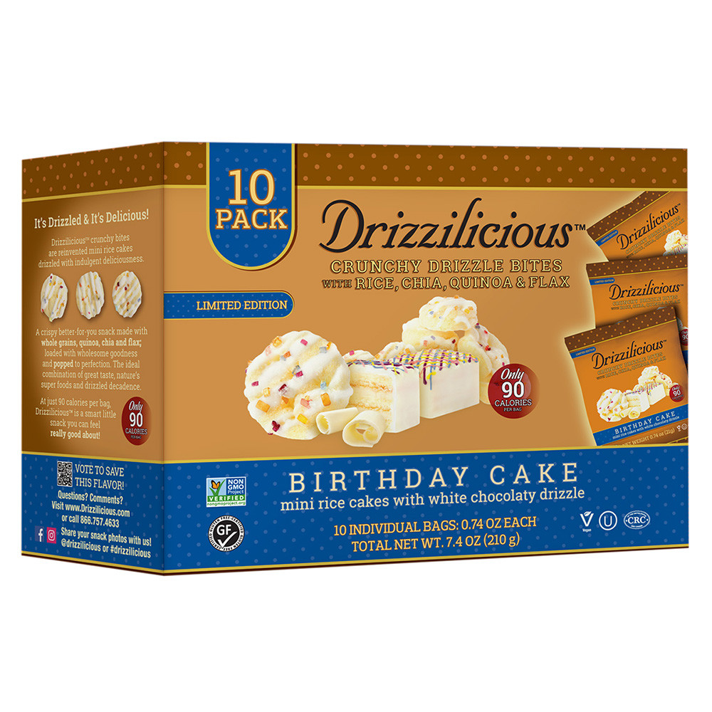 Amazing Drizzilicious Birthday Cake Drizzle Bite 7 4 Oz 10 Ct Personalised Birthday Cards Veneteletsinfo
