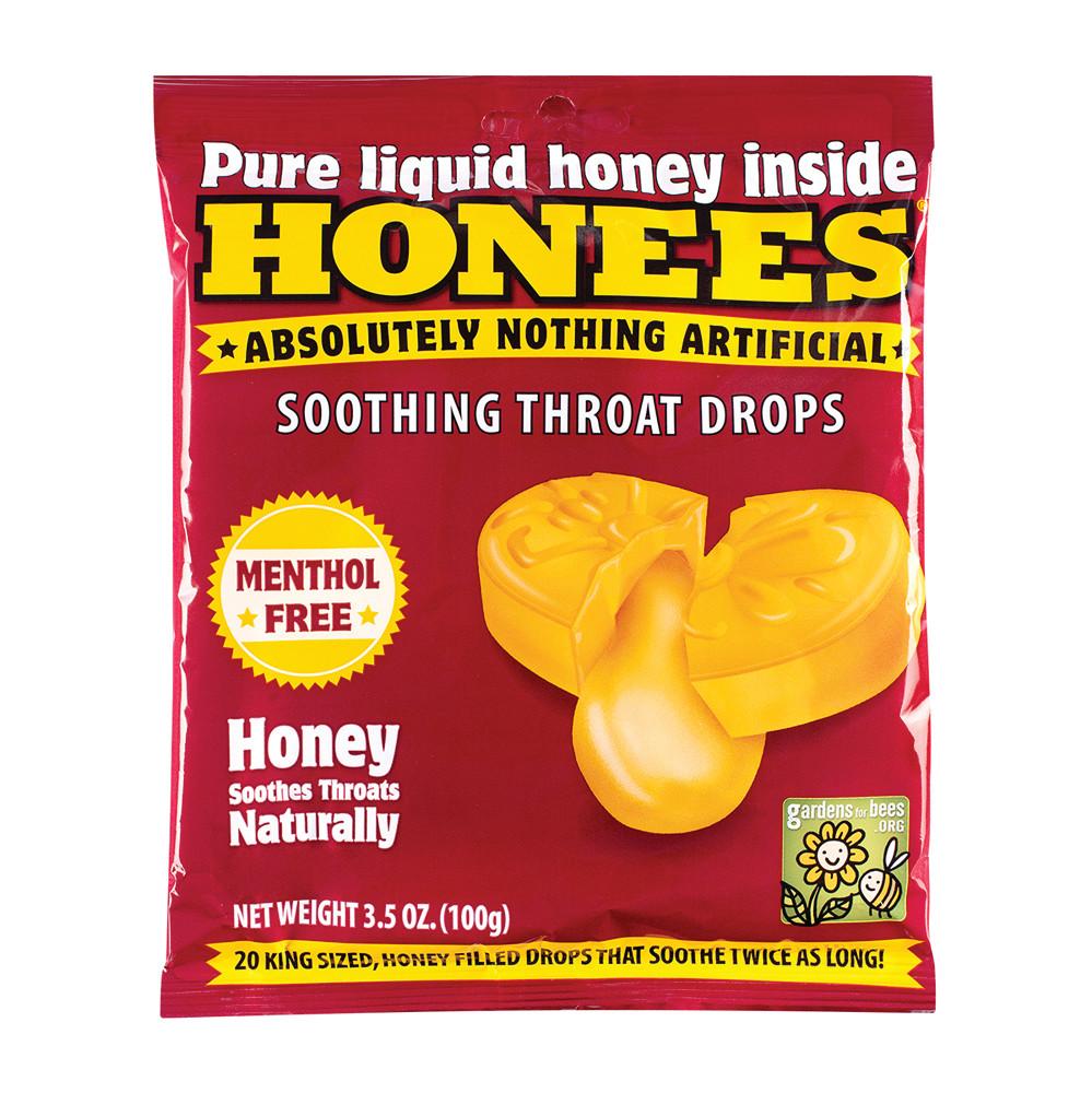 Honees Honey Soothing Throat Drop 20 Pc Peg Bag