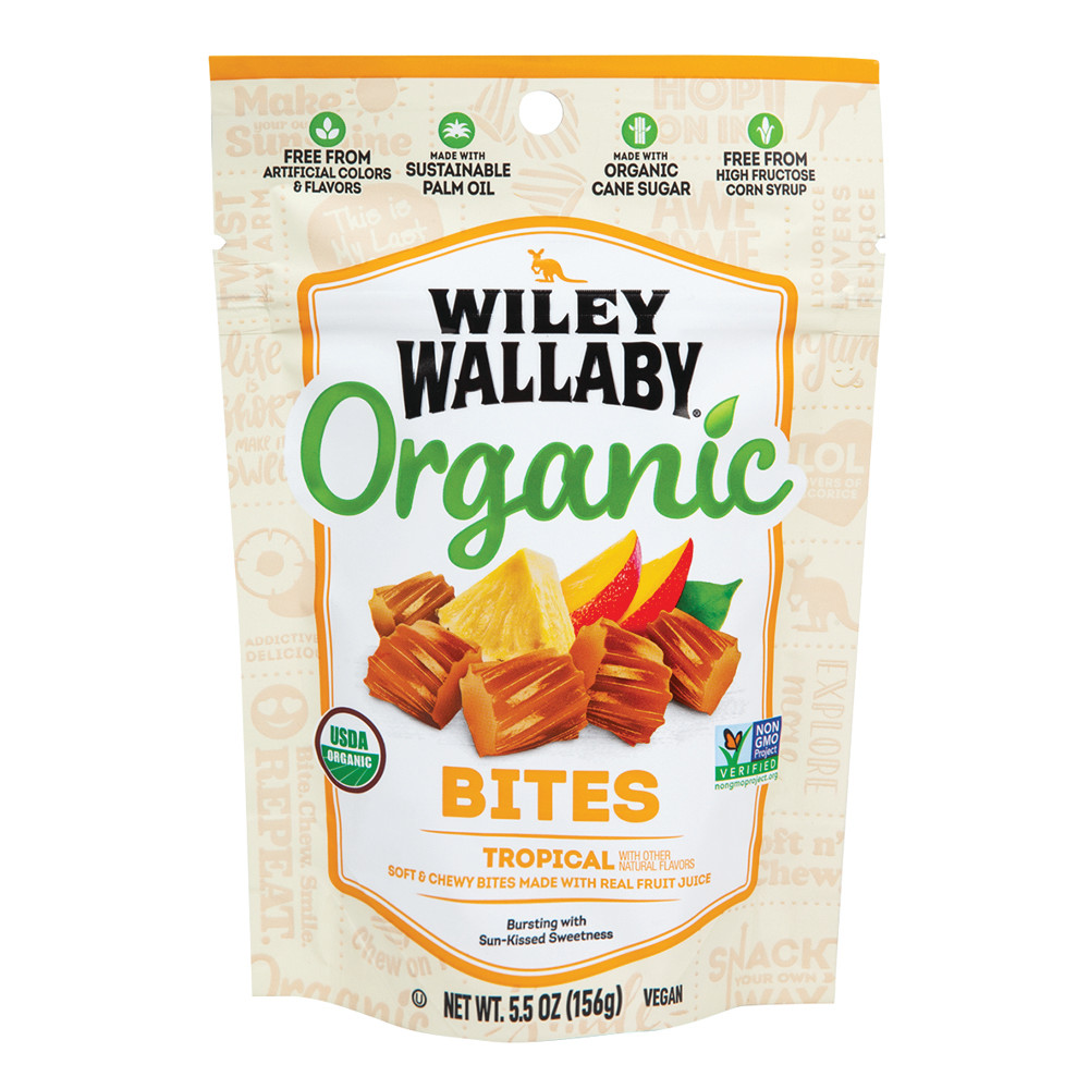 wiley wallaby tropical organic bites 5 5 oz peg bag *sf dc only