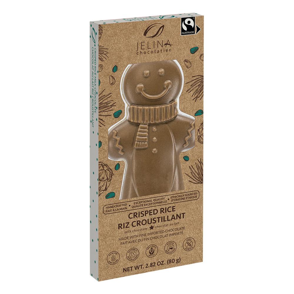 Jelina Milk Chocolate Gingerbread Man Free Trade 2 8 Oz