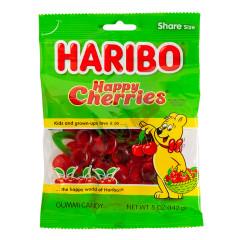 HARIBO HAPPY CHERRIES GUMMI CANDY 5 OZ PEG BAG