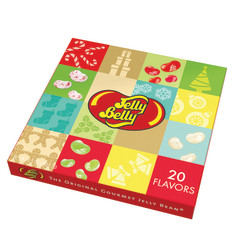 JELLY BELLY 20 FLAVOR CHRISTMAS 8.5 OZ GIFT BOX WITH SLEEVE