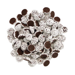 NASSAU CANDY DARK CHOCOLATE MINI NONPAREILS WITH WHITE SEEDS