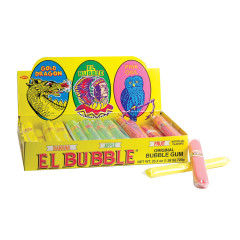 EL BUBBLE ORIGINAL BUBBLE GUM CIGARS - BANANA, APPLE, FRUIT FLAVORS