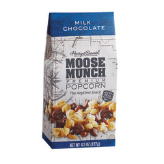 HARRY & DAVID MILK CHOCOLATE MOOSE MUNCH POPCORN 4.5 OZ GABLE BOX