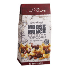 HARRY & DAVID DARK CHOCOLATE MOOSE MUNCH POPCORN 4.5 OZ GABLE BOX