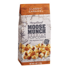 HARRY & DAVID CLASSIC CARAMEL MOOSE MUNCH POPCORN 4 OZ GABLE BOX