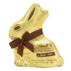 LINDT DARK CHOCOLATE GOLD FOILED BUNNY 3.5 OZ