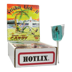 HOTLIX CRICKET LICK IT SUGAR FREE 1 OZ LOLLIPOP