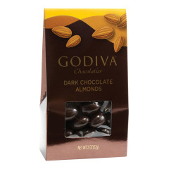 GODIVA DARK CHOCOLATE ALMOND 2 OZ GABLE BOX