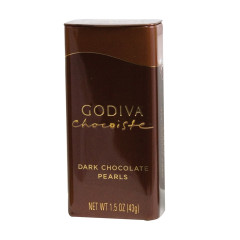 GODIVA DARK CHOCOLATE PEARLS 1.5 OZ