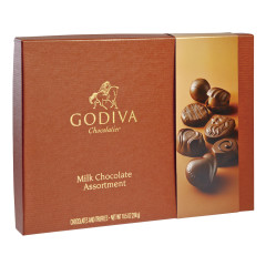 GODIVA MILK CHOCOLATE ASSORTMENT 10.5 OZ BOX