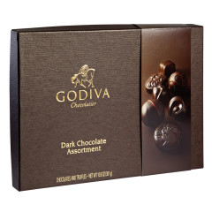 GODIVA DARK CHOCOLATE ASSORTMENT 10.6 OZ BOX