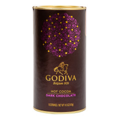 GODIVA DARK CHOCOLATE HOT COCOA 14.5 OZ CANISTER