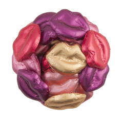 MADELAINE MILK CHOCOLATE MULTI COLOR FOILED LIPS