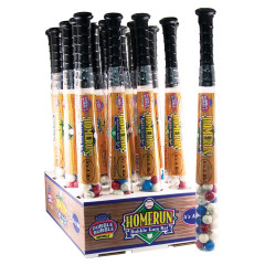 DUBBLE BUBBLE HOMERUN BASEBALL BAT WITH GUMBALLS 6.6 OZ