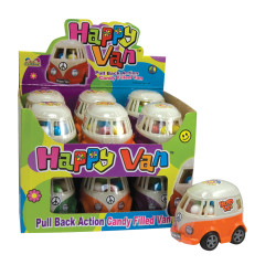 HAPPY VAN FILLED WITH CANDY