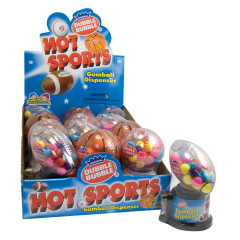 DUBBLE BUBBLE HOT SPORTS GUMBALL DISPENSER