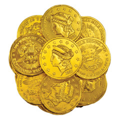 MADELAINE LARGE MILK CHOCOLATE GOLD FOILED COINS