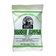 CLAEY'S GREEN APPLE DROPS 6 OZ BAG