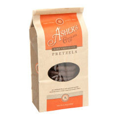 ASHER'S DARK CHOCOLATE PRETZELS 6.5 OZ BAG