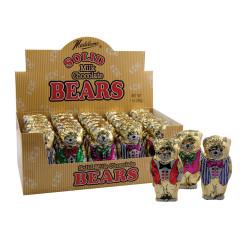 MADELAINE MILK CHOCOLATE FOILED TEDDY BEAR 1 OZ
