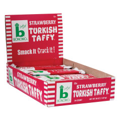 BONOMO TURKISH TAFFY STRAWBERRY 1.5 OZ