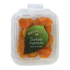 MAPLE VALLEY FARMS TURKISH APRICOTS 6.5 OZ PEG TUB