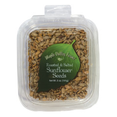 MAPLE VALLEY FARMS ROASTED AND SALTED SUNFLOWER SEEDS 5 OZ PEG TUB