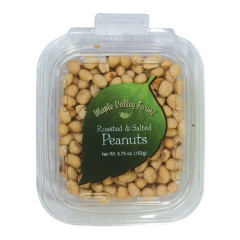 MAPLE VALLEY FARMS ROASTED AND SALTED PEANUTS 5.75 OZ PEG TUB