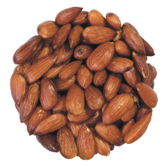 ALMONDS ROASTED UNSALTED 20/22CT 6.25 LB