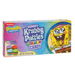 GUMMY KRABBY PATTIES COLORS 2.5 OZ THEATER BOX