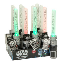 STAR WARS LIGHT UP LIGHT SABER CANDY DISPENSER 0.53 OZ