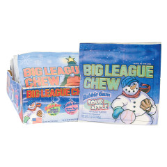 BIG LEAGUE CHEW CHRISTMAS SOUR APPLE AND ORIGINAL BUBBLE GUM 2.12 OZ POUCH