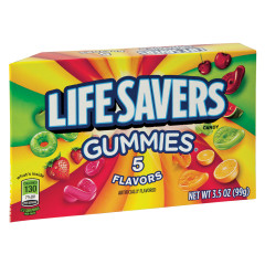 LIFESAVERS 5 FLAVOR GUMMIES 3.5 OZ THEATER BOX