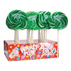 WHIRLY POP LIME DARK GREEN AND WHITE 1.5 OZ