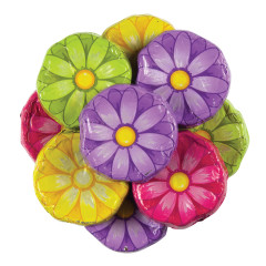 MADELAINE MILK CHOCOLATE FOILED GERBERA DAISIES