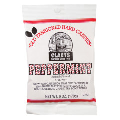 CLAEY'S PEPPERMINT DROPS 6 OZ BAG