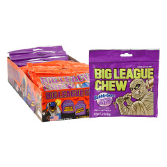 BIG LEAGUE CHEW HALLOWEEN GRAPE AND ORIGINAL BUBBLE GUM 2.12 OZ POUCH
