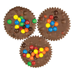 ASHER'S MILK CHOCOLATE JUMBO CUP WITH M&M'S 4 OZ