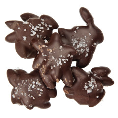 NASSAU CANDY DARK CHOCOLATE SEA SALT ALMOND TURTLES
