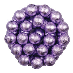 COLOR IT CANDY LAVENDER FOILED MILK CHOCOLATE BALLS