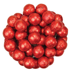 COLOR IT CANDY RED FOILED MILK CHOCOLATE BALLS