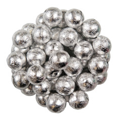 COLOR IT CANDY SILVER FOILED MILK CHOCOLATE BALLS