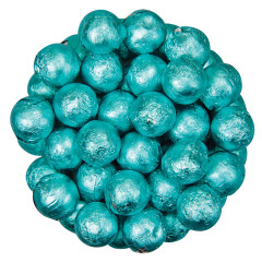 COLOR IT CANDY TIFFANY BLUE FOILED MILK CHOCOLATE BALLS