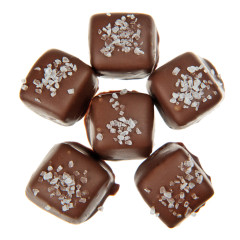 NASSAU CANDY MILK CHOCOLATE SEA SALT CARAMELS
