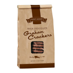 NANCY ADAMS MILK CHOCOLATE GRAHAM CRACKERS 7.5 OZ BAG