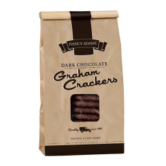 NANCY ADAMS DARK CHOCOLATE GRAHAM CRACKERS 7.5 OZ BAG