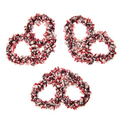 NASSAU CANDY CRUSHED PEPPERMINT DARK CHOCOLATE PREMIER PRETZEL
